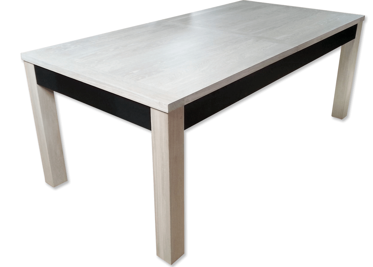 Table à allonges CONTEMPORAINE - bois de chêne massif