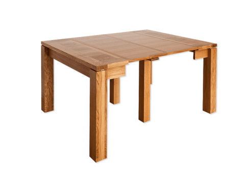 Table console - CALI Extensible allonges - bois de chène massif - DEUX ALLONGES