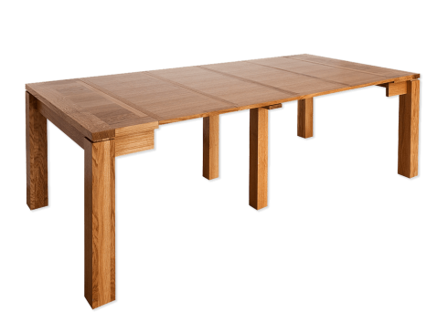 Table console - CALI Extensible allonges - bois de chène massif - QUATRE ALLONGES